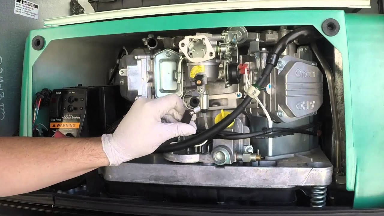 onan 5500 carburetor removal [ 1280 x 720 Pixel ]