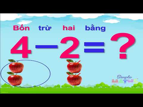 [Toán 1] Phép trừ trong phạm vi 4 | Bé học Toán vui và dễ dàng với Simplemaths
