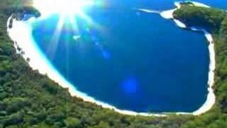 Helicopter flight over Fraser Island