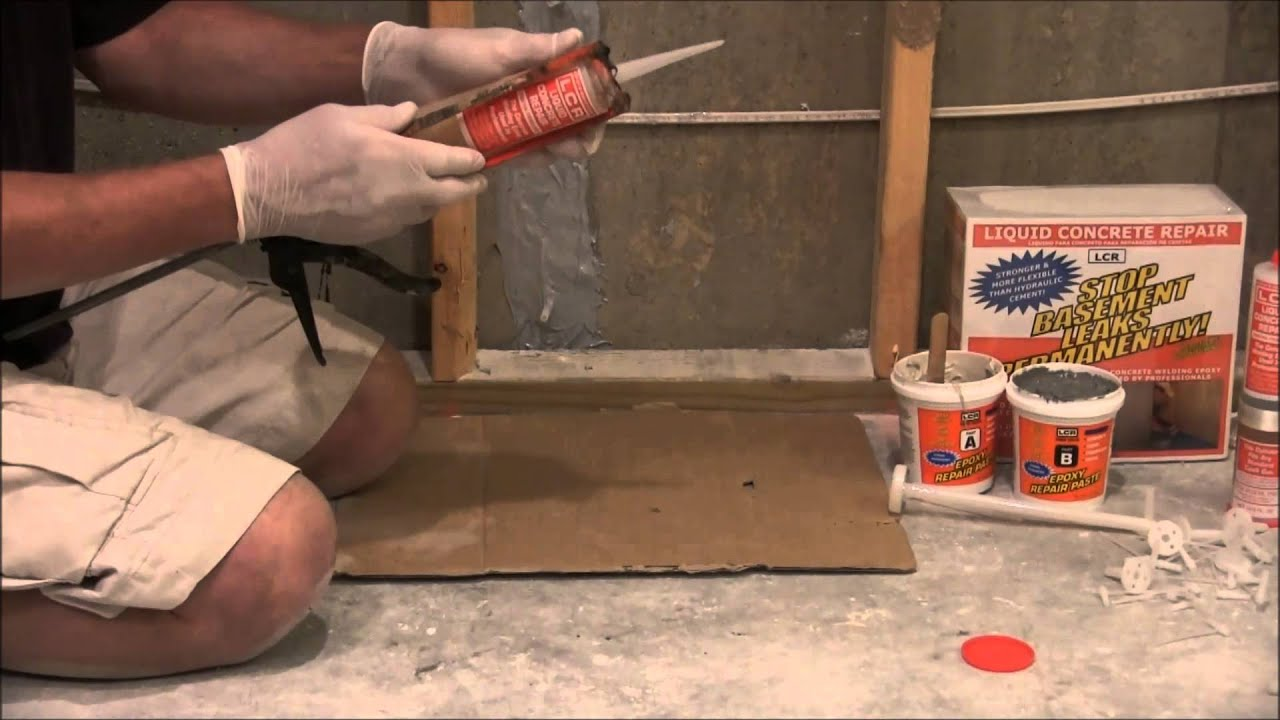 Cracked foundation repair with lcr repair kit youtube cracked foundation repair with lcr repair kit solutioingenieria Images