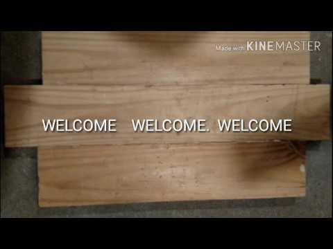 DIY Pallet wood sign Project Iowa Hawkeyes