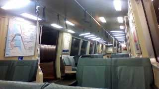 BART Train Ride Through the East Bay (SF Direction)
