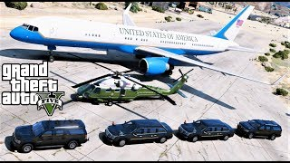 GTA 5 Presidential Mod Air Force Two Used As Air Force One To Transport President Trump To A Rally