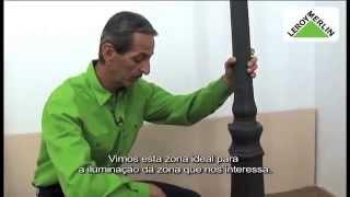 Instalar poste de iluminação exterior | LEROY MERLIN