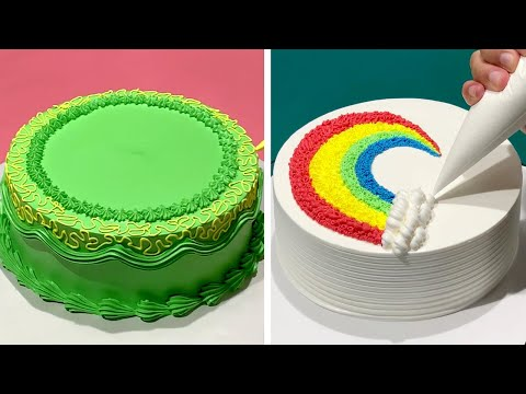 Top 10 Favorite Rainbow Cake Decorating Ideas | Perfect Cake Decorating Tutorials for Holidays