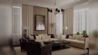 Contemporary curtain designs for living room Beautiful curtains