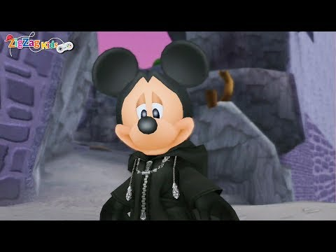 Kingdom Hearts II   Episode 24 Hollow Bastion Mickey Give Orders To Donald  Goofy   ZigZag Kids HD