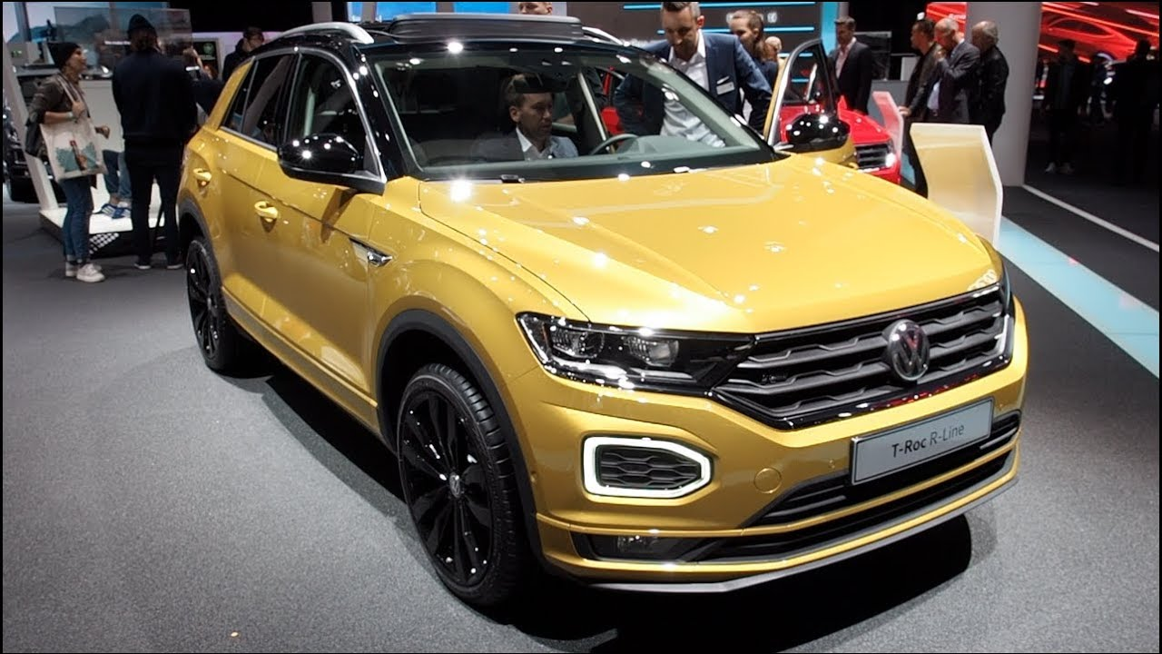 volkswagen t roc r line 2018 in detail review walkaround interior exterior youtube. Black Bedroom Furniture Sets. Home Design Ideas