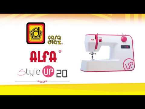 Máquina de coser Alfa Style Up 20 - YouTube