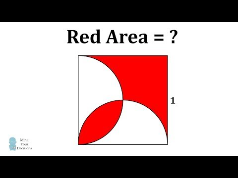 Solve For The Red Area - Easier Than It Looks!