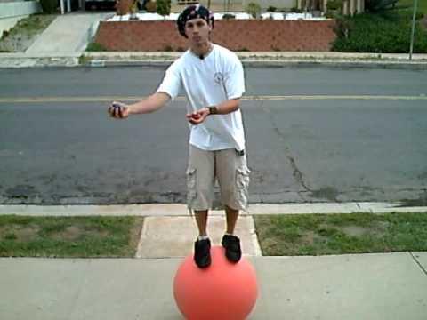 free balling juggling while balancing on a ball youtube