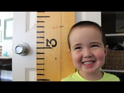 DIY Big Ruler Growth Chart for Kids
