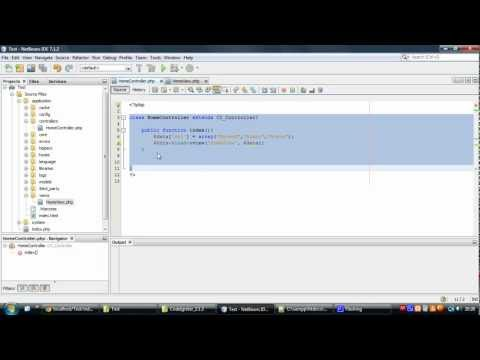 PHP CodeIgniter Tutorial 1 - Basics / Download