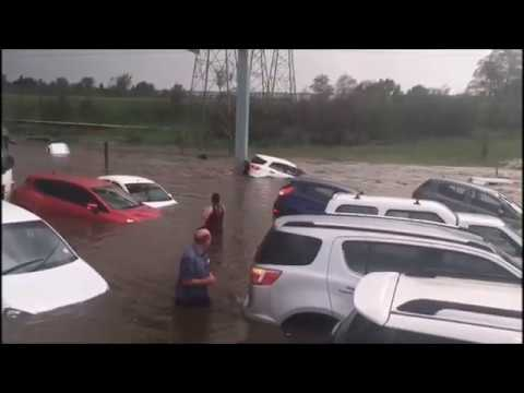 BIG storm, Car swept away flash floods, N3 Johannesburg