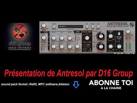 """abc du beatmaking """"#propellerheads #reason10 Présentation de #Antresol par #D16Group"""""""