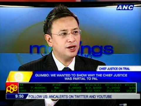 Rep. Miro Quimbo: We wanted to show why the CJ was partial t