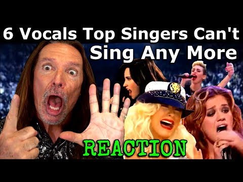 6 Hardest Vocals Top Singers Can't Sing Live  Anymore - Vocal Coach Ken Tamplin Reacts