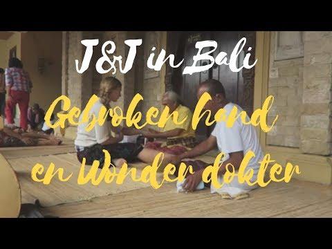 Gebroken hand en Wonder Dokter in Tempel in Bali | Digitale Nomaden Vlog J&J
