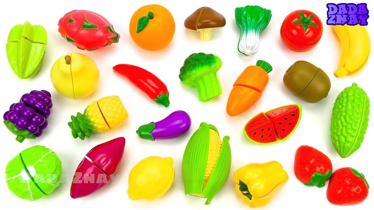 Играем и учим овощи и фрукты на липучках| Игрушки для ...