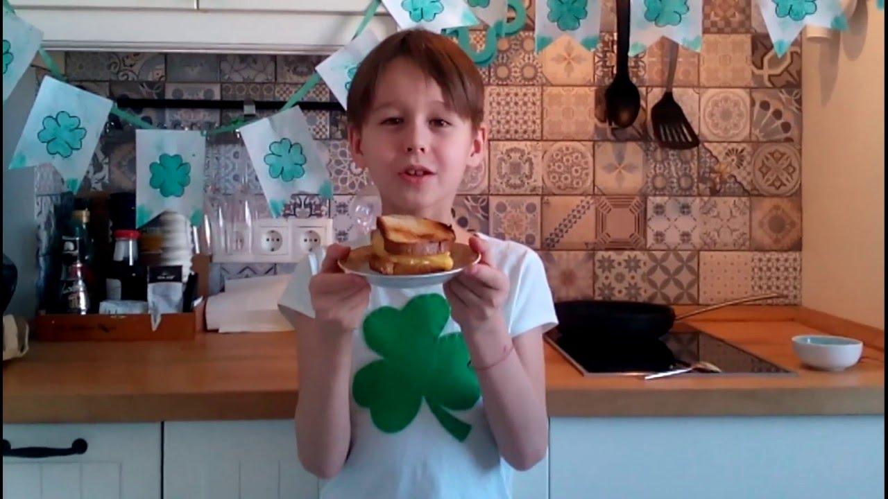 Ирландский  сэндвич (бутерброд). Рецепты на день Св.Патрика. St. Patrick's Day. Готовят дети.