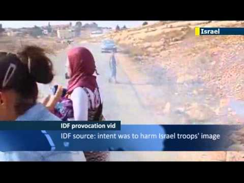 Young Palestinian Girl Provokes IDF