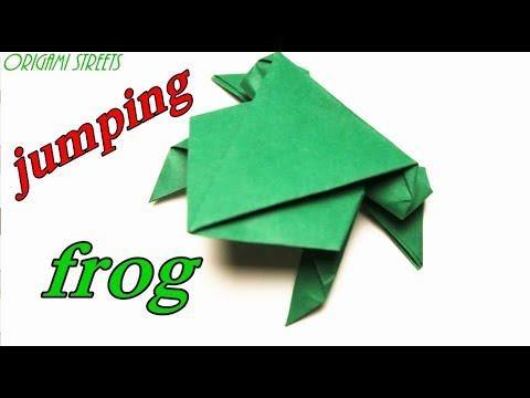 Вопрос: Как сложить оригами прыгающая лягушка?