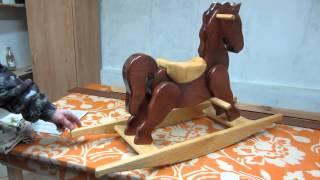 Деревянная лошадка качалка. Лабораторные испытания ))))(Деревянная лошадка качалка. Лабораторные испытания )))), 2015-01-23T12:00:23.000Z)