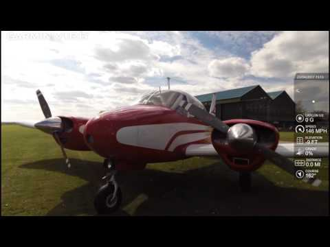 Flight with Paul Harvie in his 1959 Piper PA23 Twin