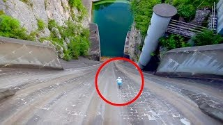 Biker Rides Down 250 Foot Dam