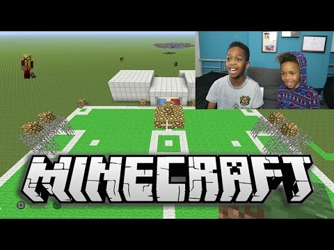 MINECRAFT | Building a Soccer Stadium with Tekkerz Kid!! | Part 1