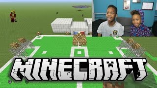 One of It's Romello's most viewed videos: MINECRAFT | Building a Soccer Stadium with Tekkerz Kid!! | Part 1