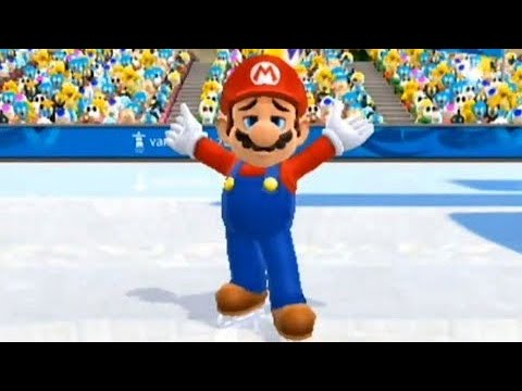 Mario and Sonic at the Olympic Winter Games (Wii) - Olympic & Dream Figure Skating (All Songs)