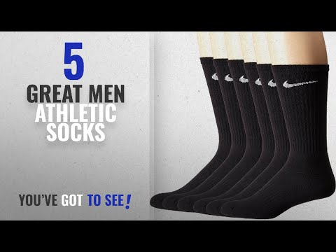 Top 10 Mens Athletic Socks [ Winter 2018 ]: NIKE Unisex Performance Cushion Crew Socks with Band (6