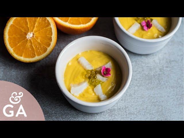 Salmorejo de naranja   Porra de naranja con bacalao