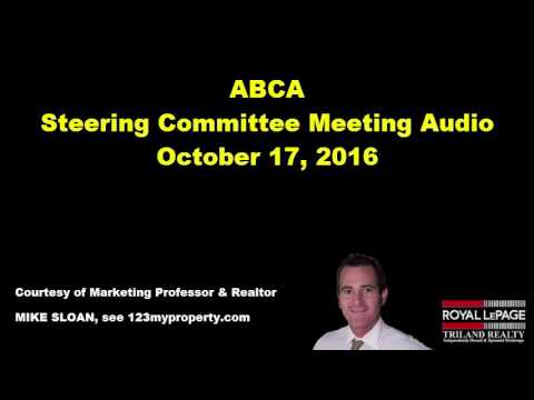 Ausable Bayfield Conservation Authority (ABCA) Steering Committee Meeting - October 17, 2016