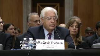 Rand Paul Questions David Friedman on National Building and Israeli Palestinian Relations