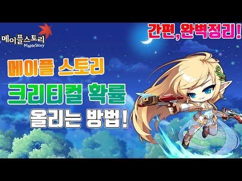 [윤팡] 메이플 스토리 크리티컬 확률 올리는방법 간편정리!