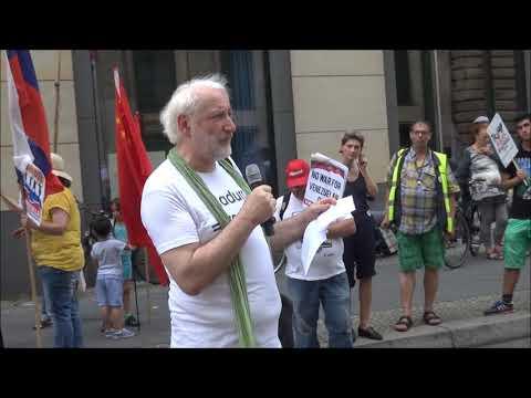 #HaendewegvonVenezuela Demo Berlin - Rede vor Zentrale der Deutschen Bank 15.6.19 #HandsoffVenezuela