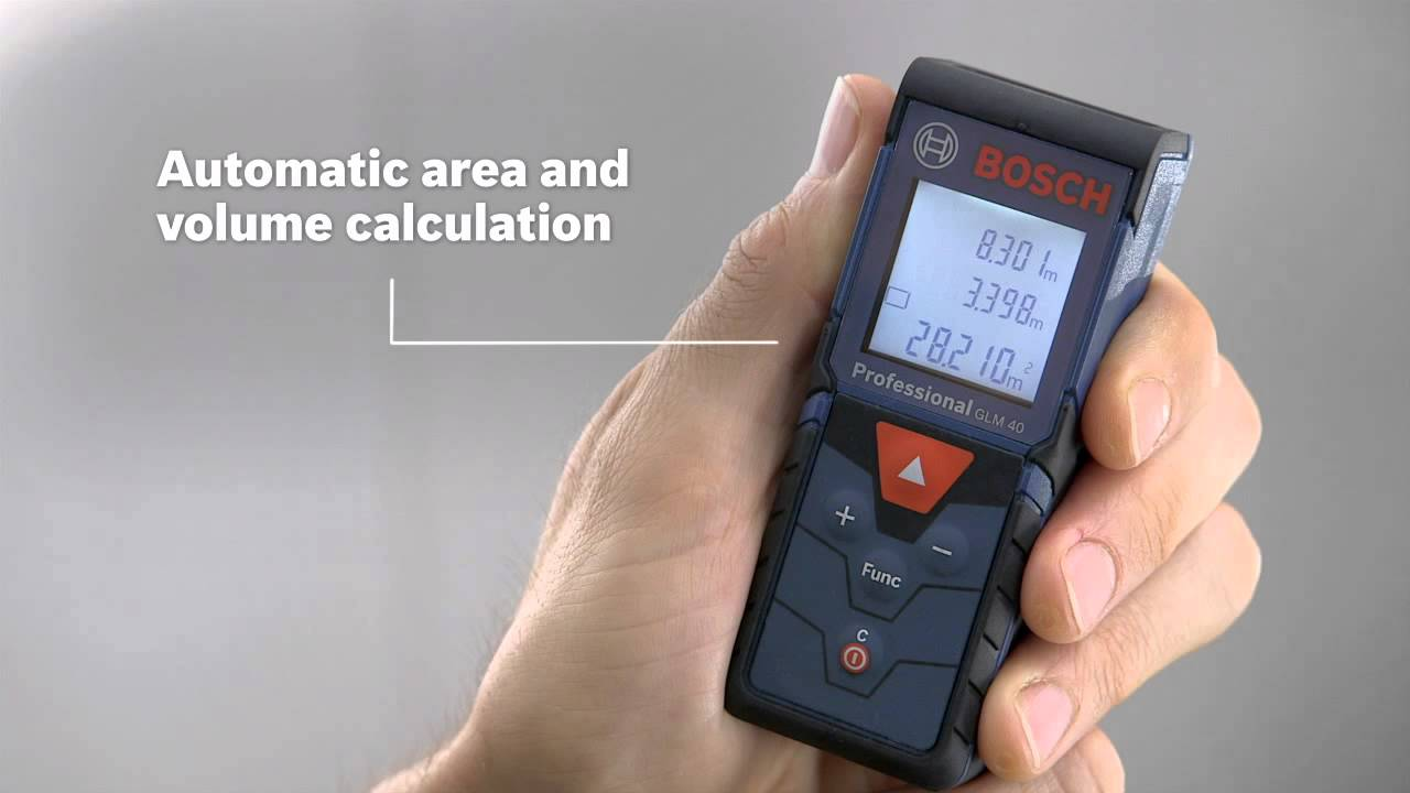 bosch laser measure glm 40 professional - youtube