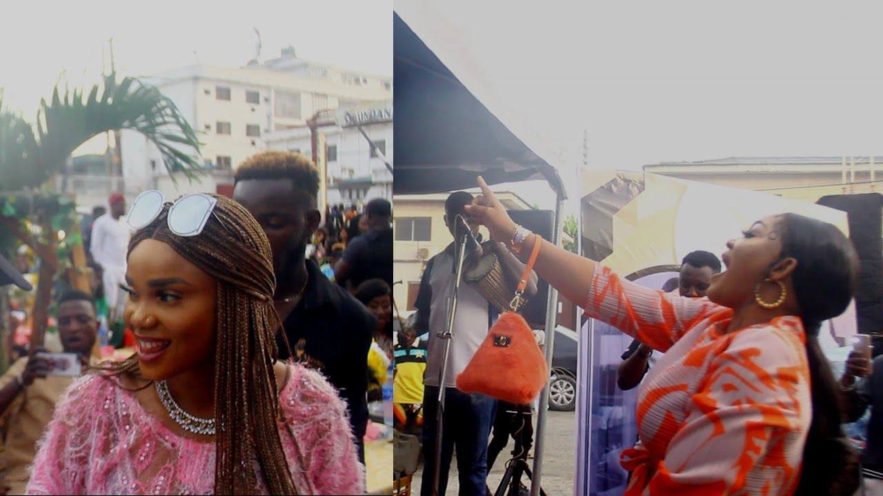 Download IYABO OJO AND MERCY AIGBE COMPETE DANCE ON STAGE AS THEY ROCK NBS EMPIRE PARTY IN EXPENSIVE OUTFIT