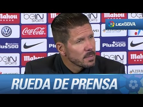 Rueda de prensa de Simeone tras el Atlético de Madrid (1-0) UD Las Palmas