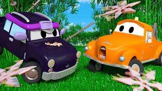 Малышка Пикл - ниндзя - Малярная Мастерская Тома в Автомобильный Город 🎨 детский мультфильм