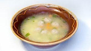 Суп с фрикадельками. Рецепт.