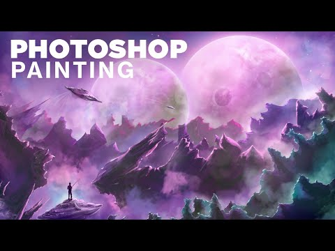 Sci-Fi Photoshop Painting - Time Lapse