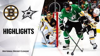 Bruins @ Stars 10/03/19 Highlights
