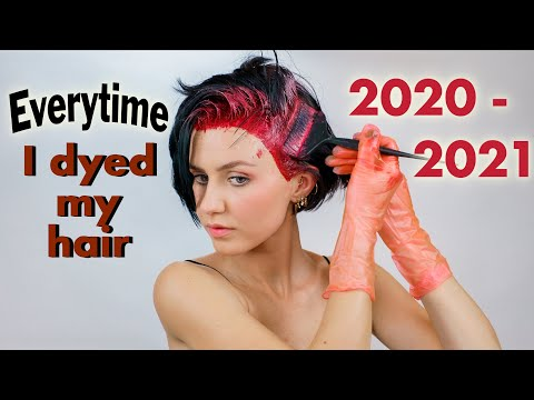 All the times I dyed my hair 2020-2021