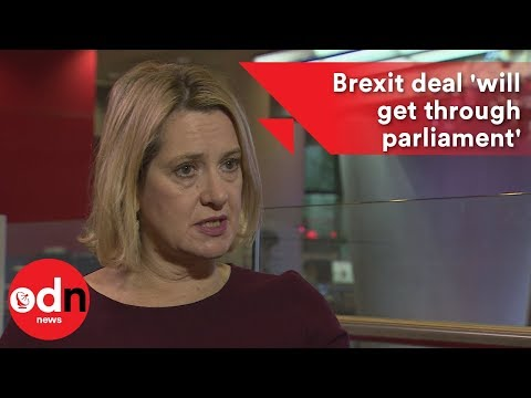 Amber Rudd: Theresa May's Brexit deal 'will get through parliament'