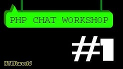 PHP Tutorial :: Chat erstellen mit PHP // WORKSHOP #1 // deutsch