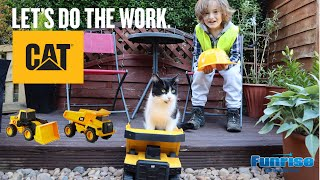 CAT Steel Construction Toys Dump Truck and Power Haulers with Motion Control Technology