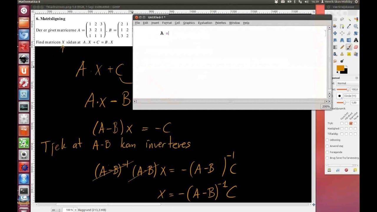 2011-05-31 Opgave 6. Matrixligning